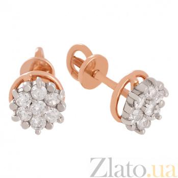 Золотые сережки с фианитами Вирджиния VLN--213-1467