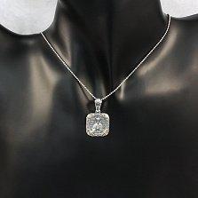 Серебряная черненая ладанка Николай Чудотворец с золотыми накладками