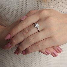 Кольцо из серебра Альбина с фианитами