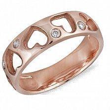 Кольцо из красного золота с бриллиантами Романтика