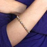 Серебряный браслет Шарики 3 цвета родированый