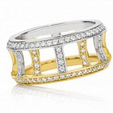 Кольцо Argile-F из белого и лимонного золота