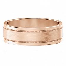 Мужское обручальное кольцо из розового золота Феерия нежности