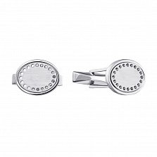 Серебряные запонки 000136590