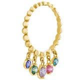 Золотое кольцо Лето с подвесками с камнями Swarovski