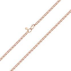 Браслет из красного золота в плетении Бисмарк королевский 000132934