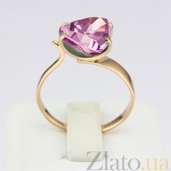 Золотое кольцо с аметистом Сандра 000024448