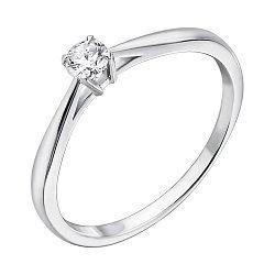 Кольцо из белого золота с бриллиантом 0,12ct 000034573
