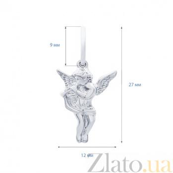 Серебряный кулон Ангел  AQA--74293