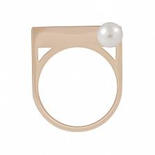 Золотое кольцо с жемчугом Домино