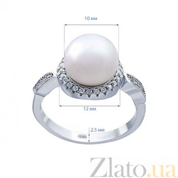 Серебряное кольцо с жемчугом Николь AQA--R00720-1PW