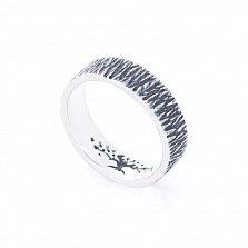 Серебряное кольцо Древо Жизни с чернением