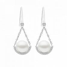 Серьги Argile-A с бриллиантами и жемчугом