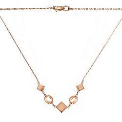 Золотое колье Алланья с геометрическими вставками 000070717