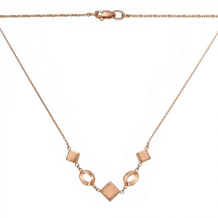 Золотое колье Алланья с геометрическими вставками 000070717 000070717