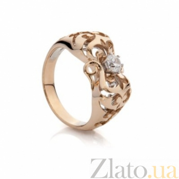 Золотое кольцо с фианитом Патриция 000030596