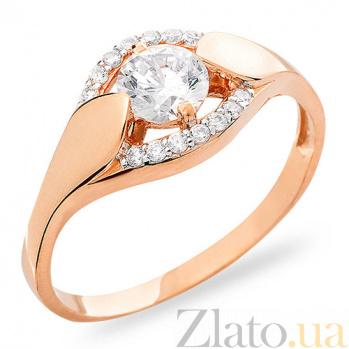 Золотое кольцо с фианитами Ашлин SUF--140644