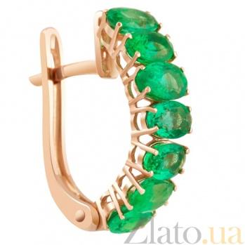 Сережки с изумрудами Зеленый омут KBL--С2417/крас/изум