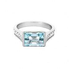 Золотое кольцо с топазом и бриллиантами Рандеву