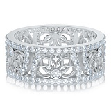 Обручальное кольцо в белом золоте Восторг: Песня Ветра
