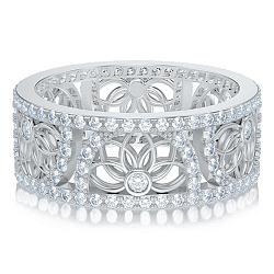 Обручальное кольцо в белом золоте Восторг: Песня Ветра 000011004