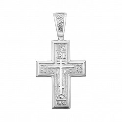 Серебряный крестик с молитвой 000123840