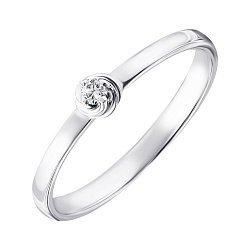 Серебряное кольцо с бриллиантом 000123330