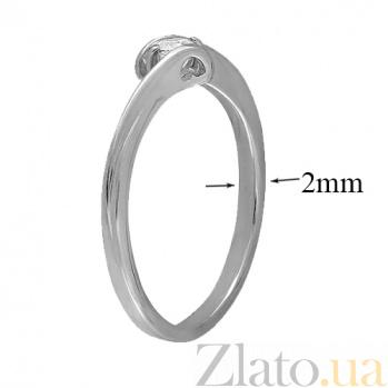 Кольцо из белого золота с фианитом Сорренто 000022895