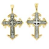 Серебряный крест с позолотой Возрождение