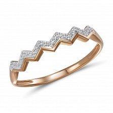 Кольцо из красного золота Валери с бриллиантами
