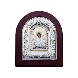 Серебряная икона Семистрельная с позолотой