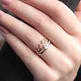 Золотое кольцо Королевское в комбинированном цвете с фианитами