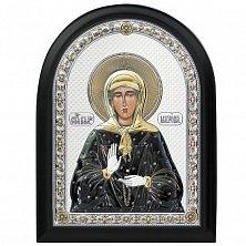 Икона на деревянной основе Святая Матрона с эмалью и позолотой, 21х17