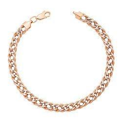 Золотой браслет с алмазной гранью и родированием 000095126