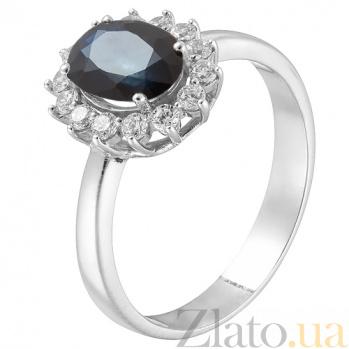 Золотое кольцо с сапфиром Шери 11696/сап