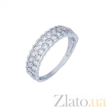 Кольцо серебряное с дорожкой и цирконов AQA--XJR-0125