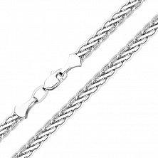 Серебряный браслет Шангри в плетении колосок, 3,5мм