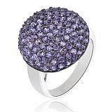 Серебряное кольцо Синий плен с кристаллами Swarovski