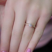 Кольцо в красном золоте Бланка с фианитами