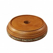 Круглая деревянная подставка под колокольчик с узорами, Ø120