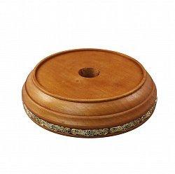 Круглая деревянная подставка под колокольчик с узорами, d 120mm 000100979
