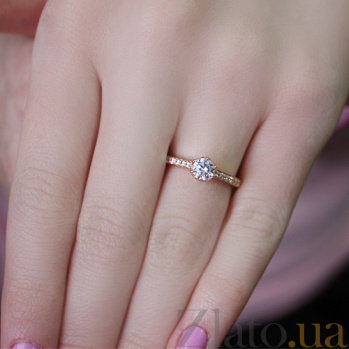 Кольцо в красном золоте Бланка с фианитами 000022903