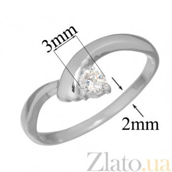 Золотое кольцо с бриллиантом Виталина PTL--3к124/21