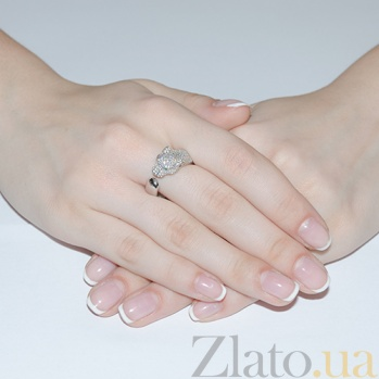 Серебряное кольцо Дикая кошка HUF--500075-Р