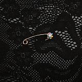 Золотая булавка с цветными фианитами Маргаритка