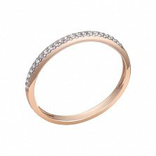 Кольцо в красном золоте Селин с бриллиантами