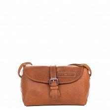 Кожаная мужская сумка HILL BURRY 3263 коричневого цвета на клапане с ремешком