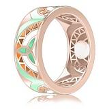 Обручальное кольцо из розового золота Талисман: Жизни