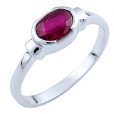 Серебряное кольцо Орнелла с рубином