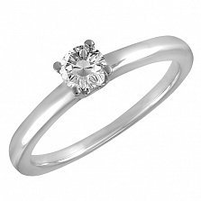 Кольцо в белом золоте Эмма с бриллиантом